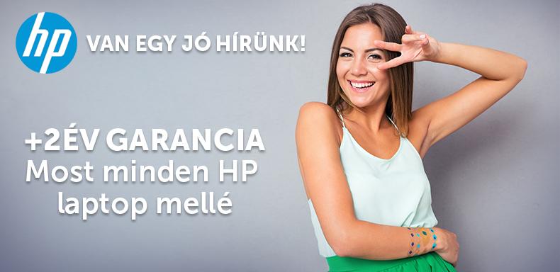 + 2 év garancia HP laptopokhoz!