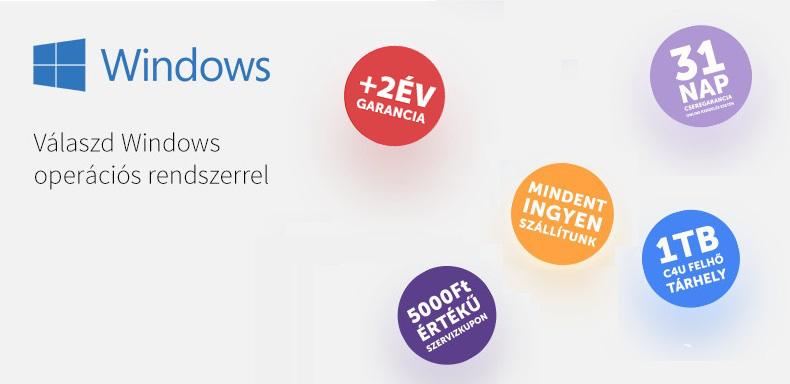 +2év garancia Windows-os laptopokhoz
