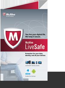 McAfee LiveSafe biztonsági szoftver 1 éves licensz