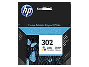 HP 302 színes tintapatron