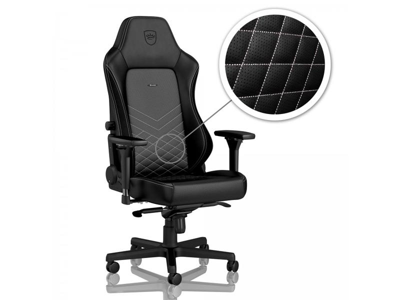 Noblechairs HERO Gamer szék Fekete, Fehér Műbőr Bontott