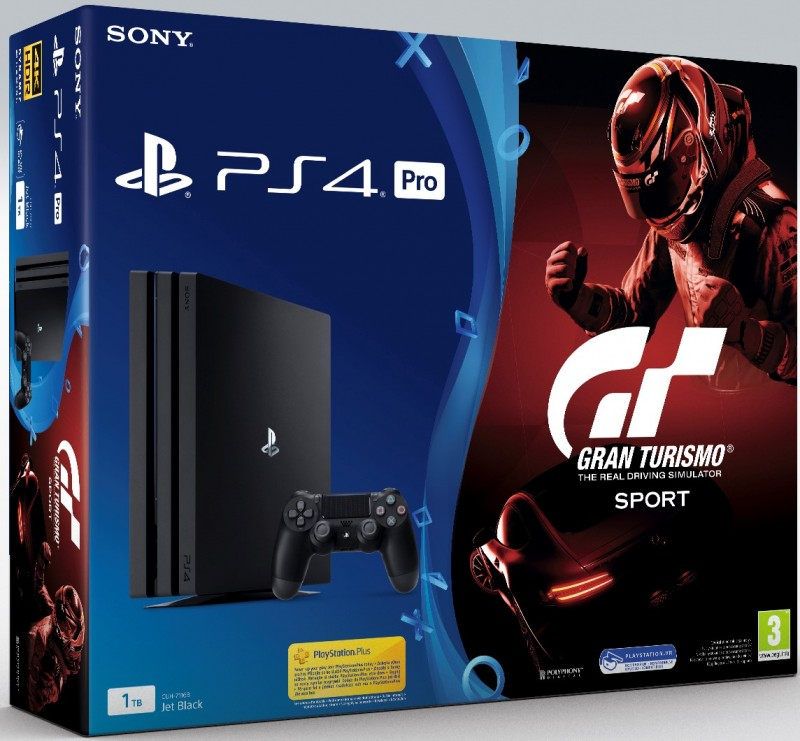 sony playstation 4 pro ps4 1tb gran turismo sport. Black Bedroom Furniture Sets. Home Design Ideas