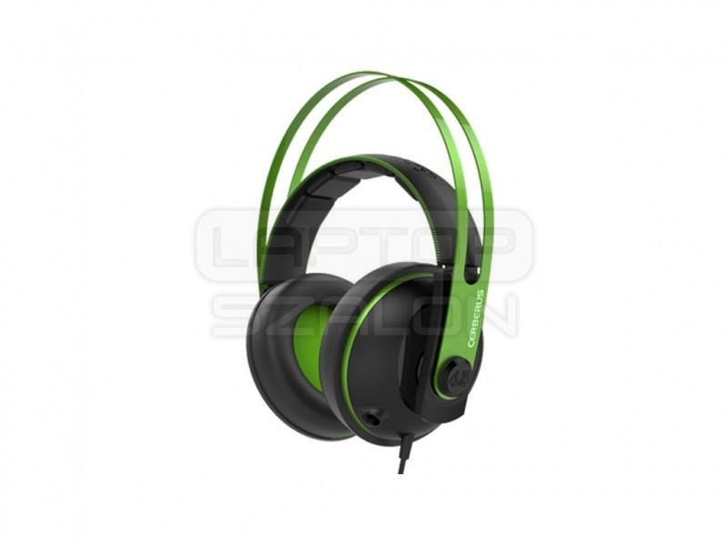 Asus Cerberus V2 Fekete-Zöld - Gamer fejhallgató  7626e45ccb