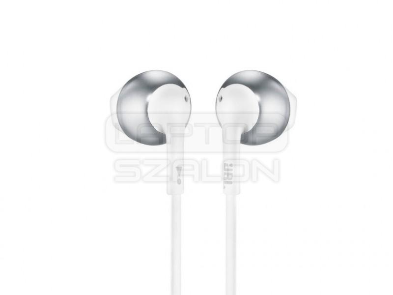 JBL T205CRM króm-fehér mikrofonos fülhallgató  e4ddfa67ed