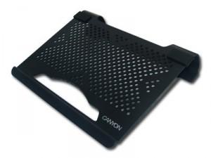 Aluminium Canyon notebook állvány, USB-s hűtőventillátorral, 10 col notebookhoz