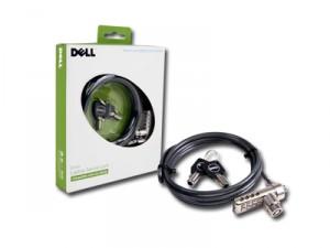 DELL notebook biztonsági zár. Számkombinációs / kulcsos nyitás/zárás, erős acélkábellel