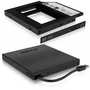 Icy Box IB-AC640 HDD/SSD SLIM beépítő keret + ODD külső ház