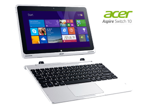 Acer Aspire Switch 10  (Intel® Atom™ Processzor Quad-Core™ Z3735F - 1,33 GHz, Bay Trail-T/2GB LPDDR3/32GB + 500GB/10,1 col/ Windows 8.1 32-bit/WIFI)