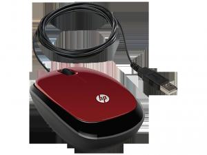 HP X1200 Piros Vezetékes egér