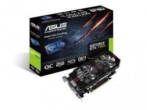 ASUS Videokártya PCIe NVIDIA GTX 750 Ti 2GB GDDR5 OC