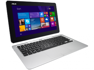 ASUS Transformer Book T100 laptop (Intel® Atom™ Processzor Quad Core™ Z3775/2GB/32GB/Intel® HD Graphics/Windows 8.1/Fehér)