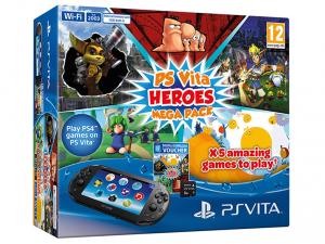 SONY PS Vita Konzol Wi-Fi 2016 + 8GB memóriakártya + Heroes Mega Pack
