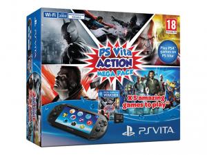 SONY PS Vita Konzol Wi-Fi 2000 + 8GB memóriakártya + Action Mega Pack