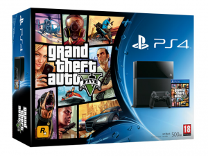 SONY PS4 500GB Konzol + GTA V