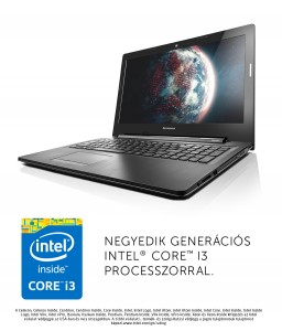Lenovo G50 70 laptop (Intel® Core™ i3-4005U Processzor/4GB/1TB/Intel® HD Graphics 4400/DOS/Fekete)