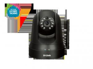 mydlink™ Home Monitor 360 - éjjellátó/forgatható/dönthető/mozgás- és hangérzékelős PTZ vezetéknélküli kamera