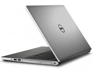DELL Inspiron 5558 15.6 HD TrueLife fényes, Intel® Core™ i3-5005U Processzor 2.0GHz, 4GB DDR3L, 128GB SSD, nVIDIA GeForce 920 /2GB, DVD, Fast Ethernet, 802.11 ac, BT, HDMI, CR, 3cell, Ezüst, Linux