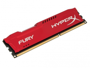 Kingston Memória HyperX Fury Red - DDR3 1600MHz / 8GB - CL10