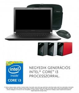 Lenovo B50 70 laptop (Intel® Core™ i3-4005U Processzor/4GB/500GB/Intel® HD Graphics 4400/DOS/Fekete)