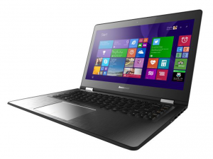 Lenovo Ideapad 14,0 FHD IPS LED Yoga 500 - 80N4015EHV - Fekete - Windows® 10 Home - Touch Intel® Core™ i3-5005U /2,00GHz/, 4GB 1600MHz, 500GB HDD, Intel® HD Graphics 5500, WiFi, Bluetooth, Webkamera, Windows® 10 Home, Érintőkijelző