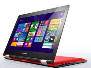 Lenovo Ideapad 14,0 FHD IPS LED Yoga 500 - LENOVO-YG-500-80R500C3HV - Piros - Windows® 10 Home - Touch Intel® Core™ i5-6200U / 2,30GHz, 4GB/1600MHz, 500GB HHD, Intel® HD Graphics, WiFi, Bluetooth, Webkamera, Windows® 10 Home, Érintőkijelző