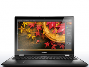 Lenovo Ideapad 15,6 FHD IPS LED Yoga 500 - 80N600DYHV - Fehér/Fekete - Windows® 10 Home - Touch Intel® Core™ i3-5005U / 2,00GHz, 4GB/1600MHz, 256GB SSD, Intel® HD Graphics, WiFi, Bluetooth, Webkamera, Windows® 10 Home, Érintőkijelző