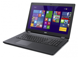 Acer Aspire 17,3 HD+ ES1-731-C76S - Fekete Intel® Celeron® Quad Core™ N3150 - 1,60GHz, 4GB DDR3 1600MHz, 500GB HDD, DVDSMDL, Intel® HD Graphics, WiFi, Bluetooth, Webkamera, Boot-up Linux, Fényes Kijelző