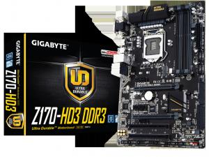 Gigabyte s1151 GA-Z170-HD3 DDR3 Alaplap
