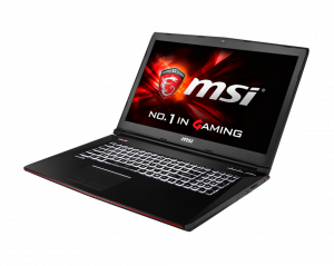MSI GE72 2QC (Apache) - 281XHU laptop (Intel® Core™ i7-Quad Processzor Core™ 5700HQ/8GB/1TB/NVIDIA GeForce GTX 960M/DOS/Fekete)