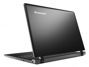 Lenovo Ideapad 100 15,6 HD LED- 80MJ00PEHV - Fekete Intel® Pentium® Quad Core™ N3540 - 2,16GHz, 4GB DDR3L 1333MHz, 1TB HDD, DVDSMDL, Intel® HD Graphics, WiFi, Bluetooth, HD Webkamera, FreeDOS, Fényes kijelz