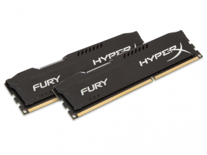 Kingston Memória HyperX Fury Black - DDR3 1600MHz / 16GB KIT (2x8GB) - CL10