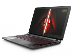 HP Pavilion Star Wars™ Special Edition 15-AN001NA laptop (Intel® Core™ i5-6200U Processzor/6GB/1TB/NVIDIA GeForce 940M/Windows 10/Star Wars témájú kialakítás (Darkside) - Hamvas ezüst)