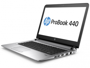 HP ProBook 440 G3, 14 HD matt, Intel® Core™ i3-6100U Processzor, 4GB, 128GB SSD, Intel® HD 520, ezüst, Win10 Pro