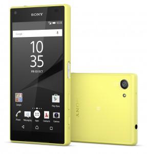 Sony Xperia Z5 Compact Sárga okostelefon