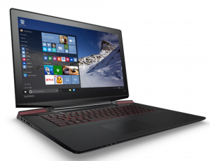 Lenovo Ideapad 15,6 FHD IPS LED - Y700 - 80NV00TRHV - Fekete Intel® Core™ i7-6700HQ / 2,60GHz - 3,50GHz/, 4GB 2133MHz, 1TB HDD + 128GB SSD, NVIDIA® GeForce® GTX960M / 4GB, WiFi, Bluetooth, Webkamera, Win10, Háttérvilágítású billentyűzet, Matt kijelző