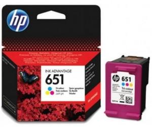HP 651 színes tintapatron