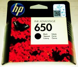 HP 650 fekete tintapatron