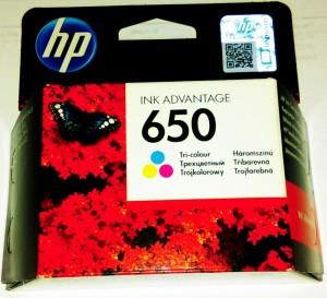 HP 650 színes tintapatron