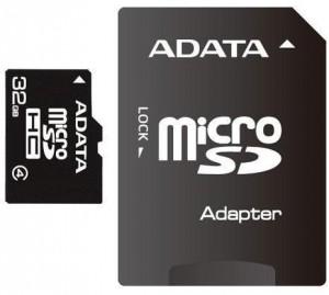 Adata Memoriakártya MicroSDHC 32GB CLASS 4 + ADAPTER