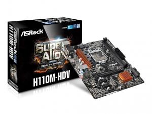 ASRock s1151 H110M-HDV Alaplap
