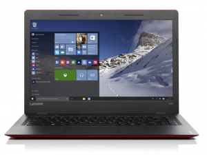 Lenovo Ideapad 14,0 HD LED 100s - 80R9004PHV - Piros/Fekete - Windows® 10 Home Intel® Celeron® Dual Core™ N3050 - 1,60GHz, 2GB DDR3 1600MHz, eMMC 64GB HDD, Intel® HD Graphics, WiFi, Bluetooth, Webkamera, Windows® 10 Home, Fényes kijelző