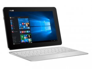 ASUS 10,1 HD T100HA-FU007T Fehér Windows 10 Intel® Atom™ x5-Z8500 / 1,44 GHz - 2,24 GHz, 2GB, 64, Intel® HD Graphics, WIFI, Bluetooth, Webkamera, Windows 10 , Fényes kijelző