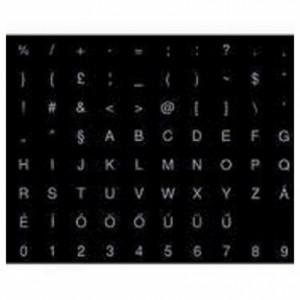 Billentyűzet matrica notebookhoz fekete alapon fehér