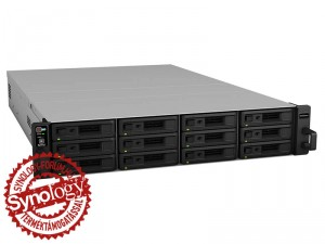 Synology RackStation RS18016xs+ 12-lemezes NAS (4×3,3 GHz CPU, 8 GB RAM)