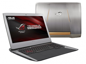 ASUS ROG 17,3 FHD G752VY-GC347T - Szürke - Windows® 10 64bit Intel® Core™ i7-6820HK - 3,60GHz, 8 GB, 1TB, NVIDIA® GeForce® GTX 980M 8GB, DVD-RW, WiFi, Bluetooth, Webkamera, Windows® 10 64bit, Matt kijelző,