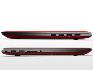 LENOVO IDEAPAD 500S-13ISK, 13,3 FHD IPS AG, Intel® Core™ i5 Processzor-6200U, 4GB, 500GB+8GB SSHD, NV GF920M, NO ODD, DOS, piros
