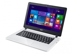 Acer Aspire 13,3 HD ES1-331-C2FY - Fehér Intel® Celeron® Dual Core™ N3050/1,60GHz - 2,16GHz/, 4GB 1600MHz, 500GB HDD, Intel® HD Graphics, WiFi, Bluetooth, Webkamera, Boot-up Linux, Matt kijelző