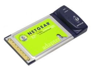 Netgear PCMCA CardBus hálózati adapter