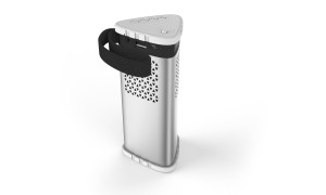 Alcor Tower Bluetooth hangszóró - 8000 mAh vésztöltő funkcióval - Ezüst