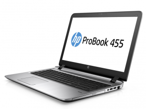 HP PROBOOK 455 G3 15.6 HD A10-8700P 1.8GHZ, 4GB, 500GB, WIN 7/10 PROF.